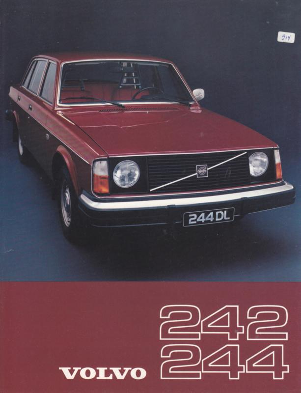 242/244 Sedan leaflet, Dutch language, 1976