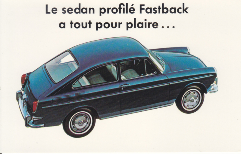 Fastback & Station Wagon, Canadian postcard, standard size, approx. 1966, #665 023 405 FR