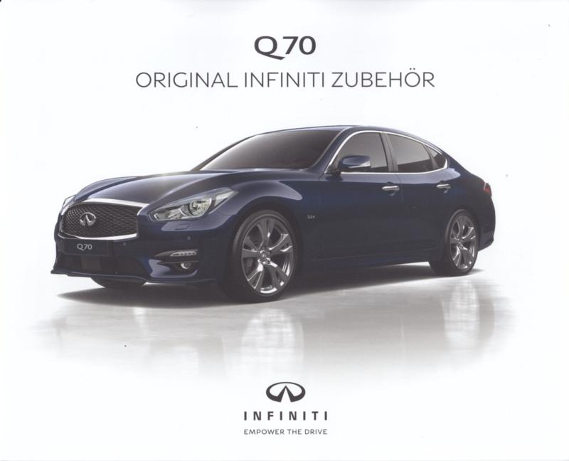Q70 Sedan accessories brochure, 6 pages, German language, 2017