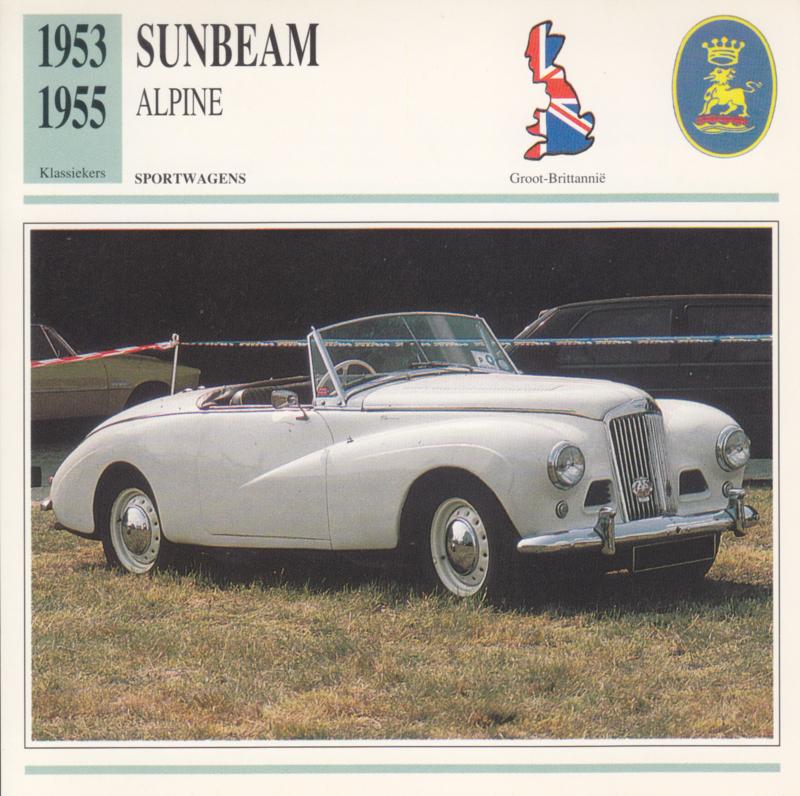 Sunbeam Alpine card, Dutch language, D5 019 03-04
