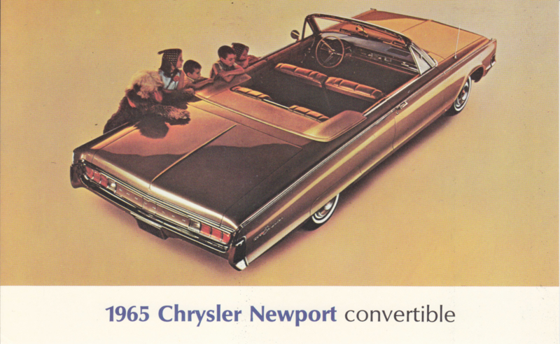 Newport Convertible, US postcard, large size, 1965