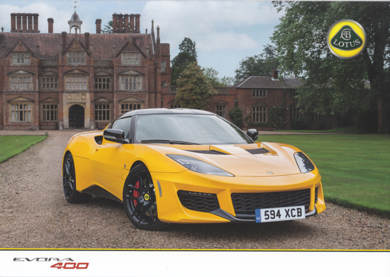 Evora 400, 4 pages, DIN A4-size, factory-issued, English language