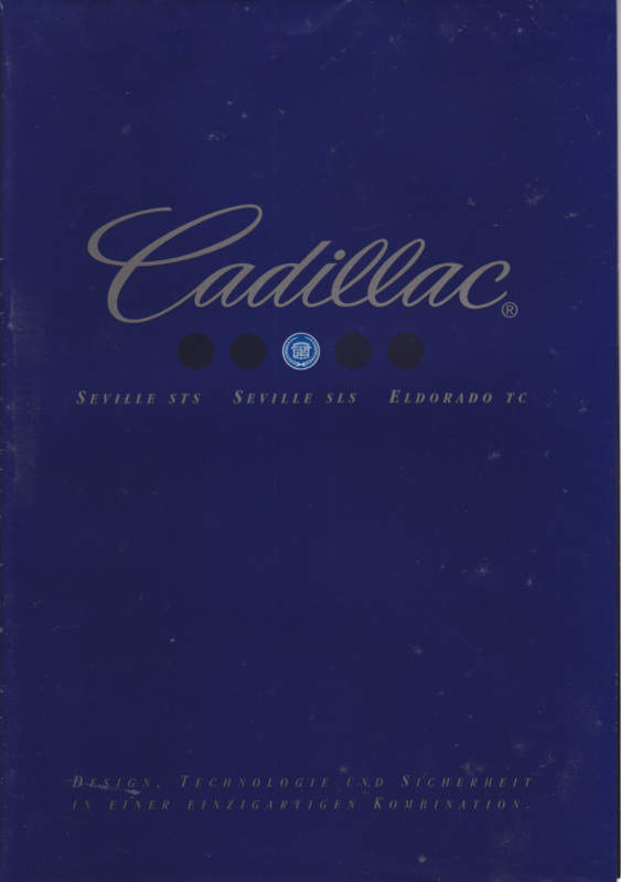 Seville STS, SLS & Eldorado TC brochure, 16 pages, 2002, German language