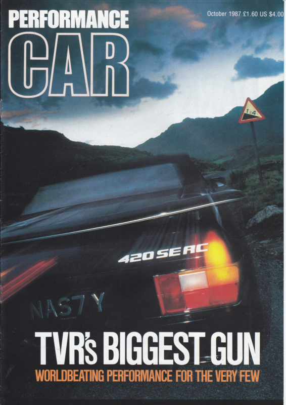 420 SEAC Performance Car magazine reprint, 8 pages, English language, 10/1987