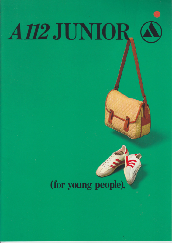 A112 Junior & range, 20 pages, about 1980, English language