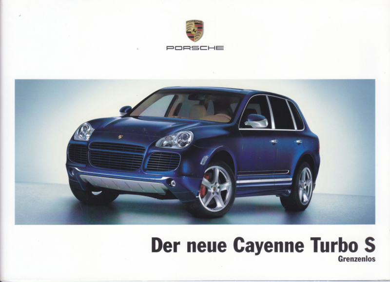 Cayenne Turbo S brochure, 24 pages, 01/2006, German language