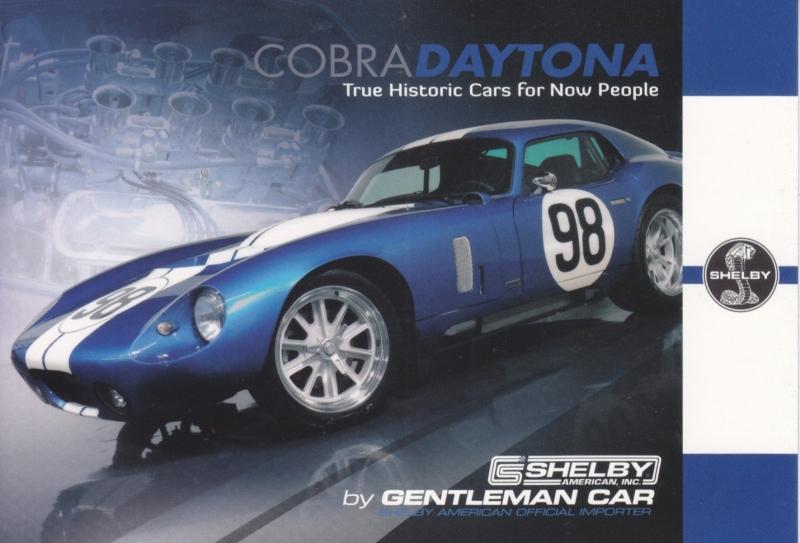 Cobra Daytona Coupe CSX 9000 postcard,  English language, Belgian issue, about 2014