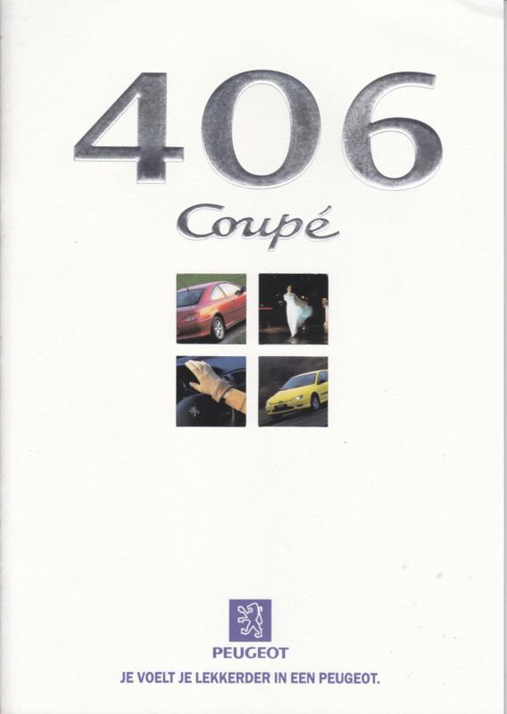 406 Coupé brochure, 32 pages, A4-size, 9/1997, Dutch language