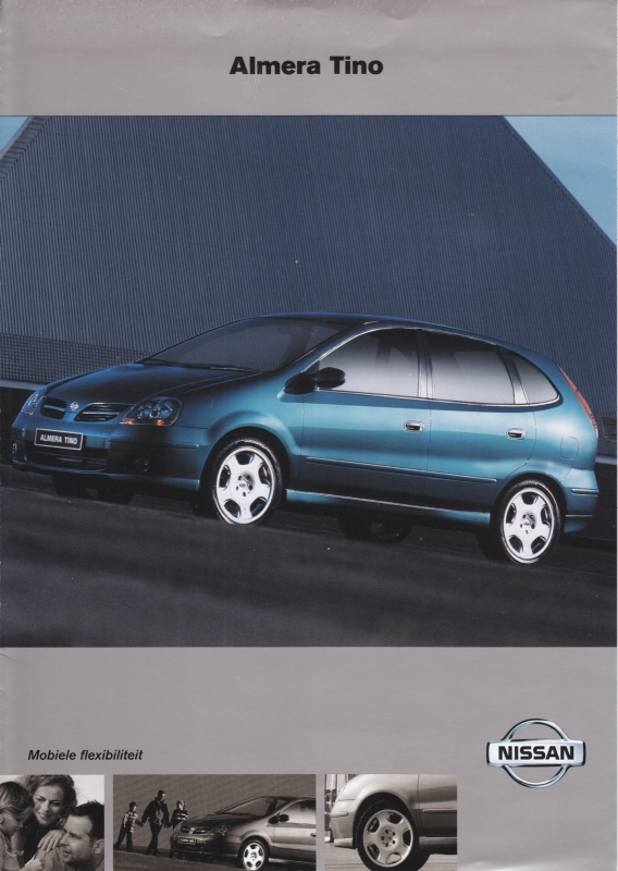 Almera Tino brochure, 6 pages, about 2001, Dutch language
