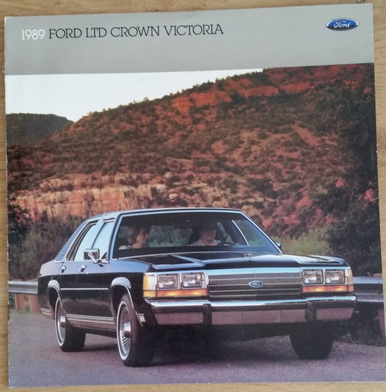 LTD Crown Victoria,  12 square large pages, English language, 8/88, # 009