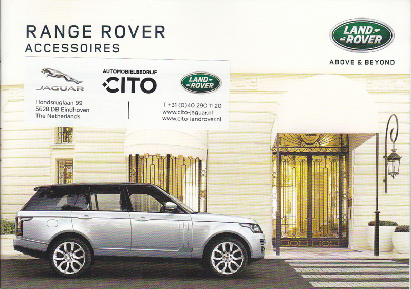 Range Rover accessories brochure, 20 pages, A5-size, 12/2015, Dutch language