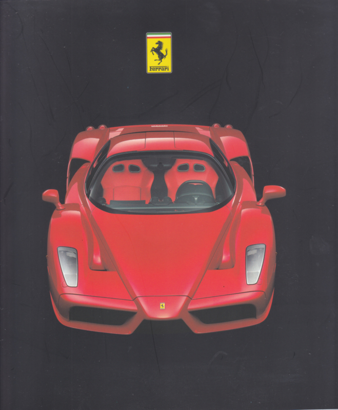Ferrari Enzo press brochure, 28 square pages, 2002, # 1854/02