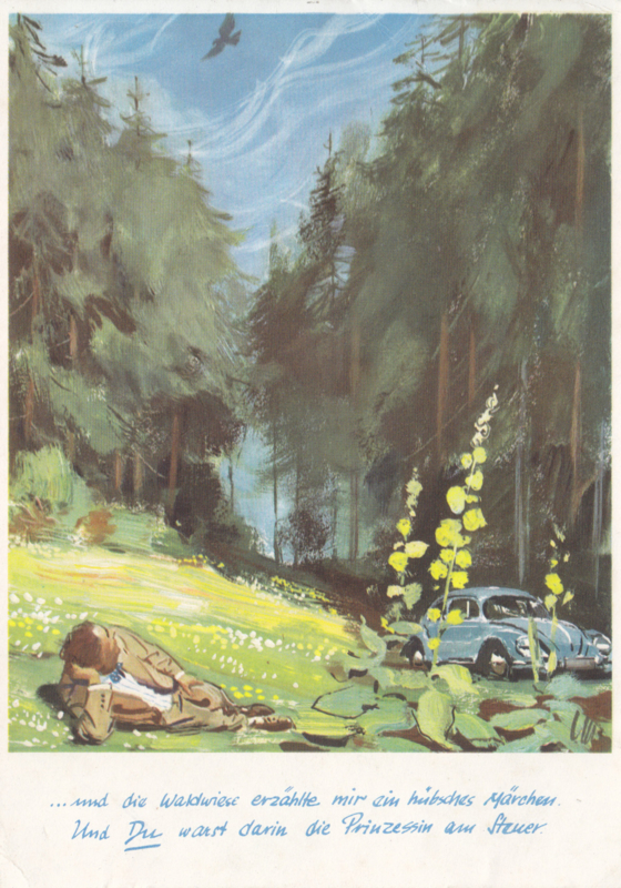 Kever (Käfer) postcard, DIN A6-size, unused, # W6/39