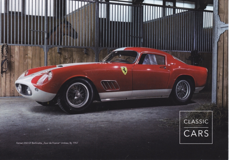 250 GT Berlinetta Tour de France, A5-size card, issued by Auctionata, 2016, German