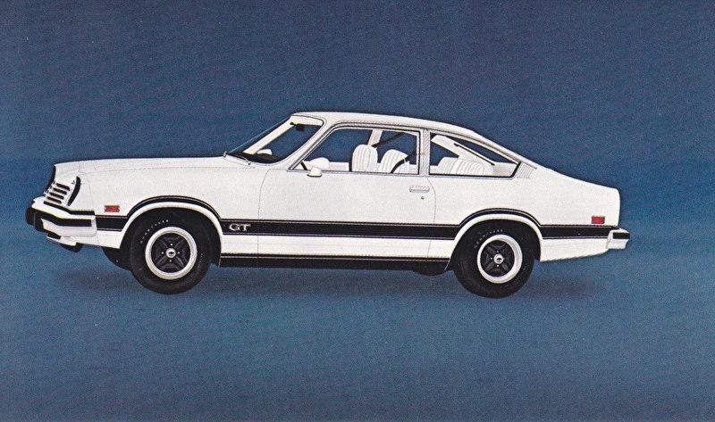 Vega GT,  US postcard, standard size, 1975