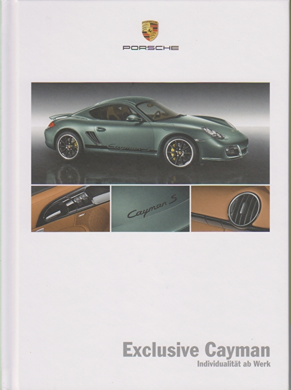 Cayman Exclusive brochure, 52 pages, 01/2010, hard covers, German