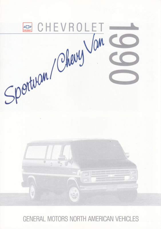 Chevy Van/Sportvan brochure, 6 pages, export, 1990, Dutch/English language