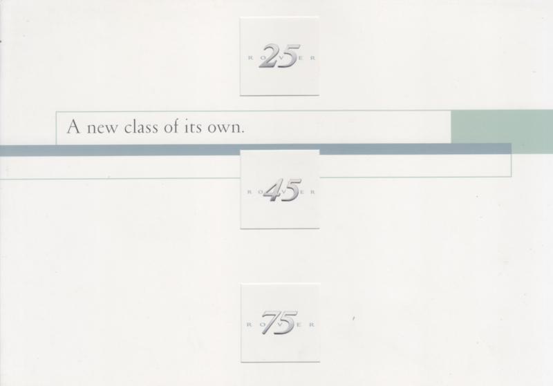 25/45/75 brochure, 6 pages, A5-size, c1999, German language