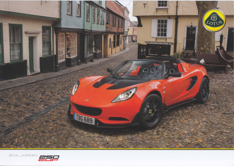 Elise 250 Cup, 4 pages, DIN A4-size, factory-issued, English language