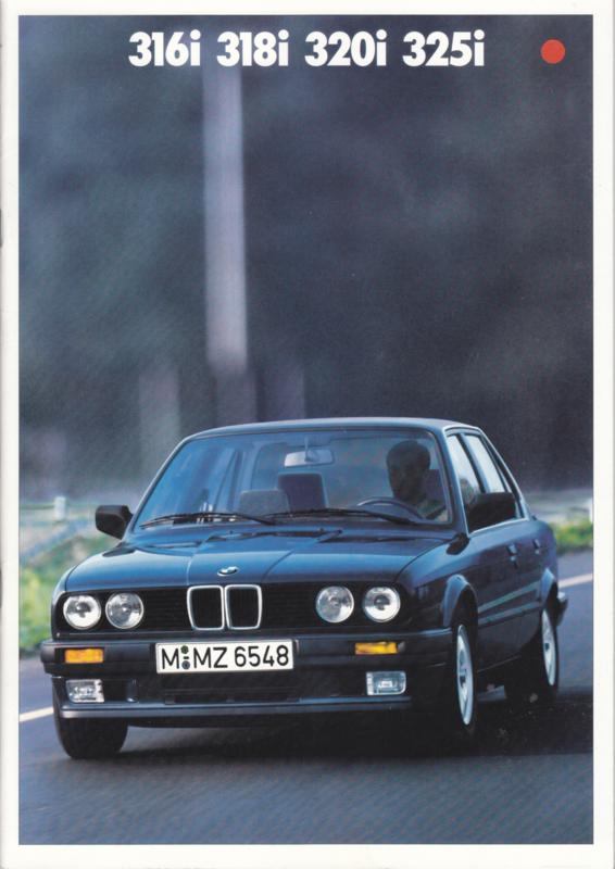 316i/318i/320i/325i brochure, 34 pages, A4-size, 2/1987, German language