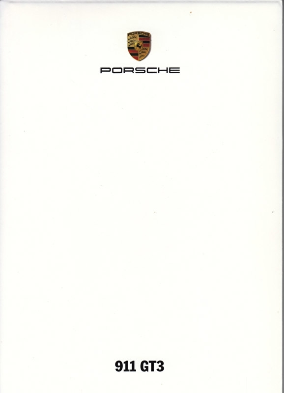 911 GT3, A6-size set with 6 postcards in white cover, 2009, WSRG 0901 07S1 00