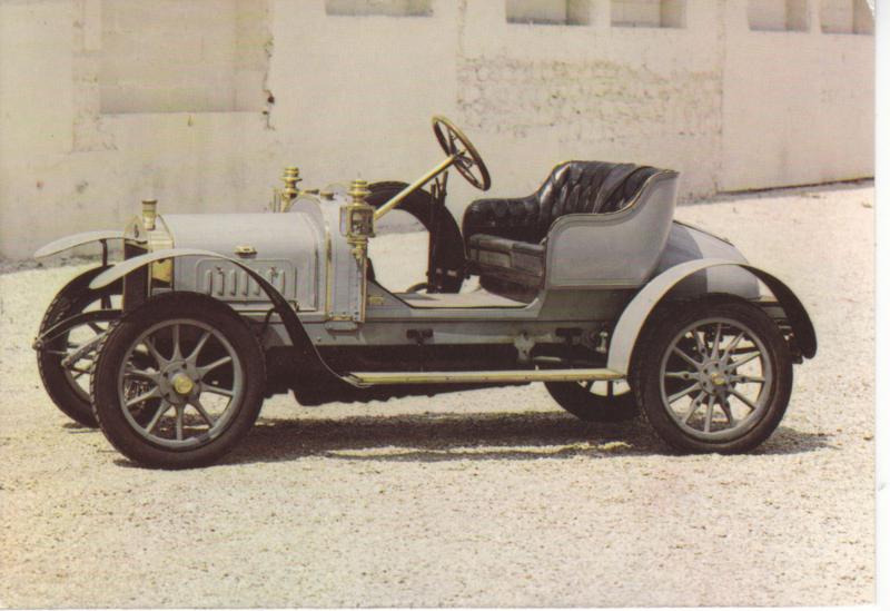 Delage Phaeton T by Repusseau 1910, regular size postcard, French