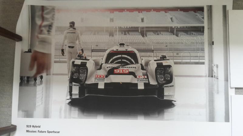 919 Hybrid sportscar large original factory poster, published 02/2015