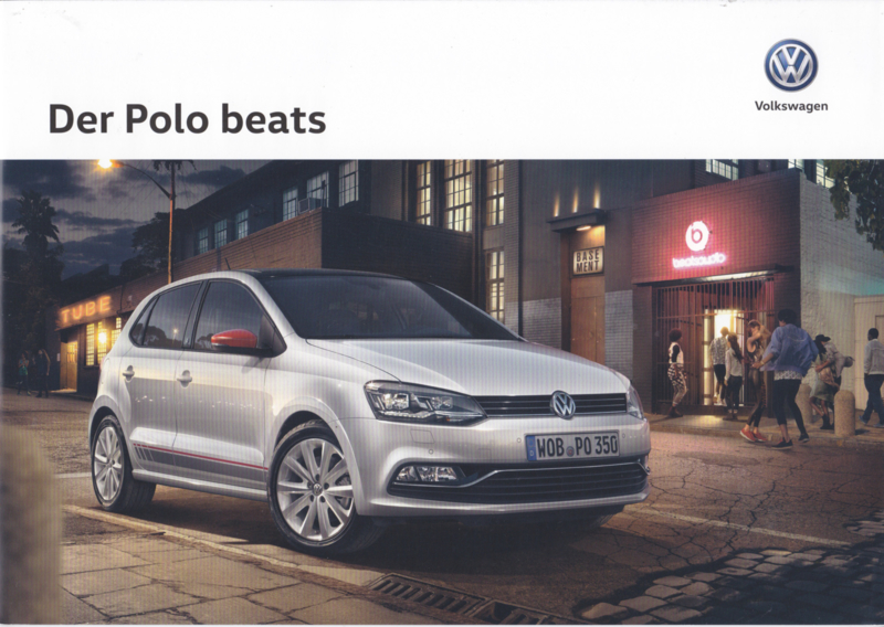 Polo beats brochure, A4-size, 6 pages, German language, 03/2016