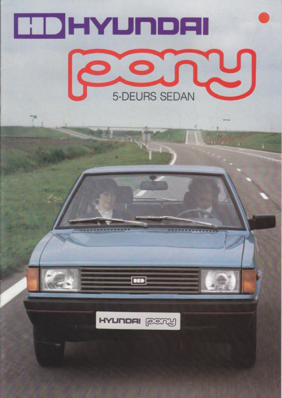 Pony 5-Door Sedan brochure, 16 pages, about 1982, Dutch language