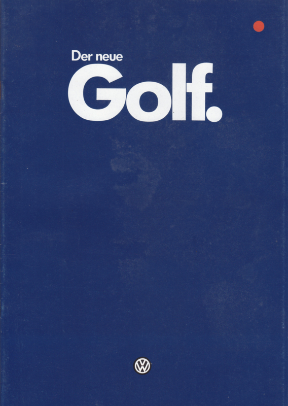 Golf brochure, 32 pages,  A4-size, German language, 01/1984