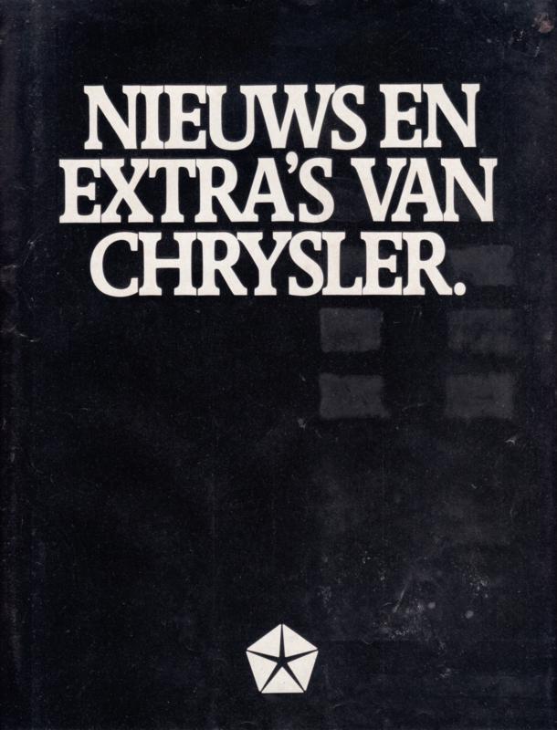 New models brochure, 8 pages, A4-size, 1978, Dutch language