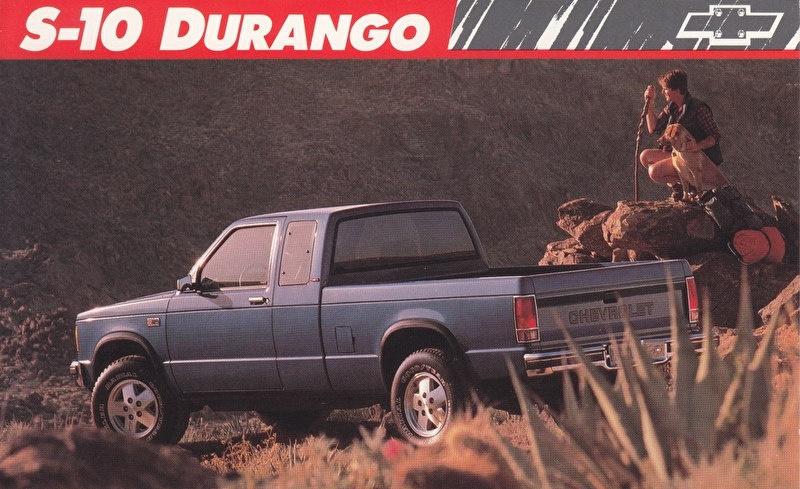 S-10 Durango Pickup,  US postcard, large size, 19 x 11,75 cm, 1989