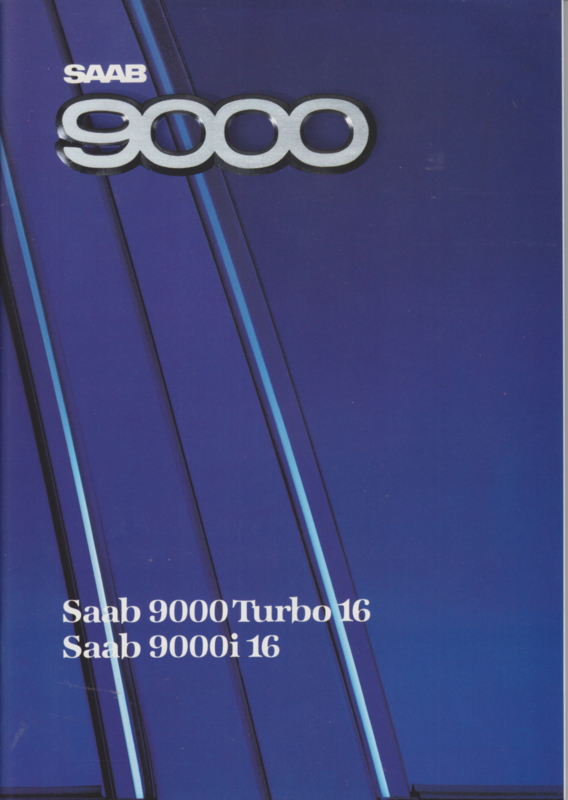 9000 Turbo 16 & 9000 i 16 brochure, 54 pages, 1988, Dutch language, # 227207
