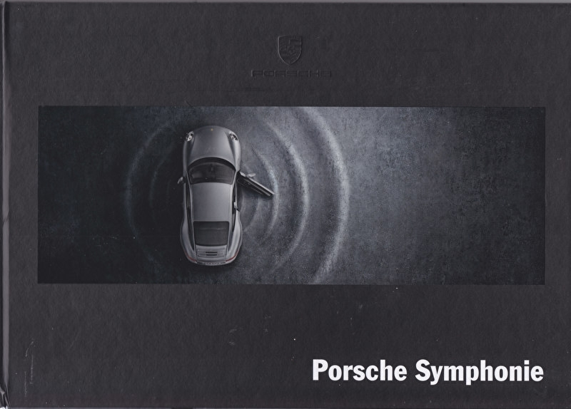Symphonie sound system brochure with CD,  4 pages, 2015, hard covers, German