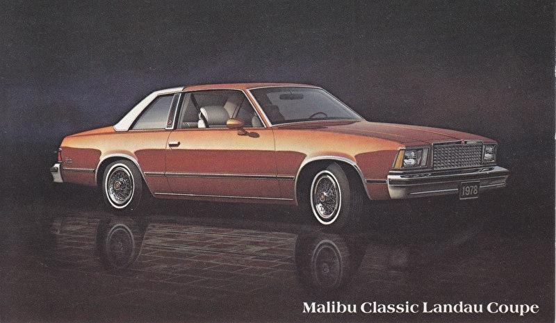 Malibu Classic Landau Coupe, US postcard, standard size, 1978