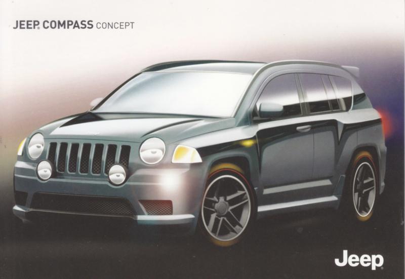 Compass Concept postcard,  A6-size, German language