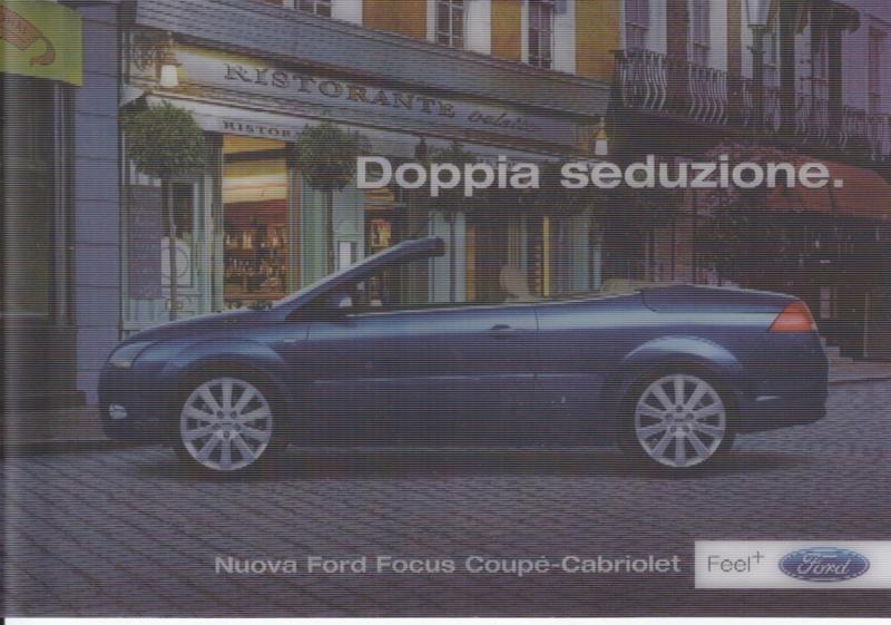 Focus Coupé-Cabriolet lenticular card , DIN A6-size, Promocard freecard, Italy, # 7118