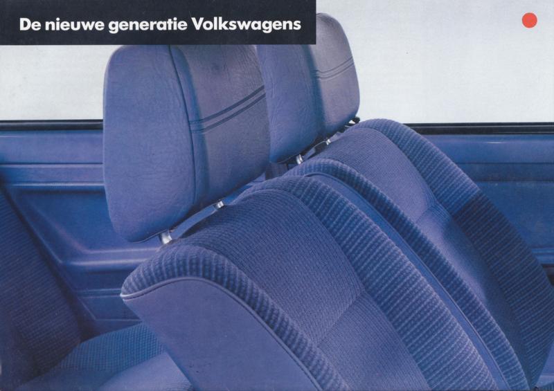 VW new specs. levels brochure, 8 pages,  A4-size, Dutch language, 06/1981