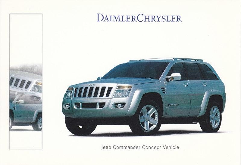 Jeep Commander Concept Vehicle, A6-size postcard, IAA 1999, German