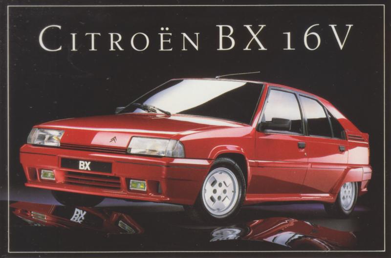 Citroën BX 16V, sticker, 10 x 15 cm *
