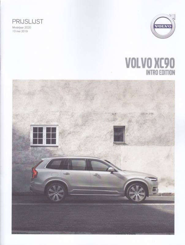 XC90 Intro Edition pricelist brochure, 20 pages, MY20, 05/2019, Dutch language