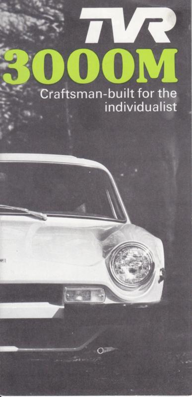 3000 M, 8 smaller page brochure, English language, 10/1976 *