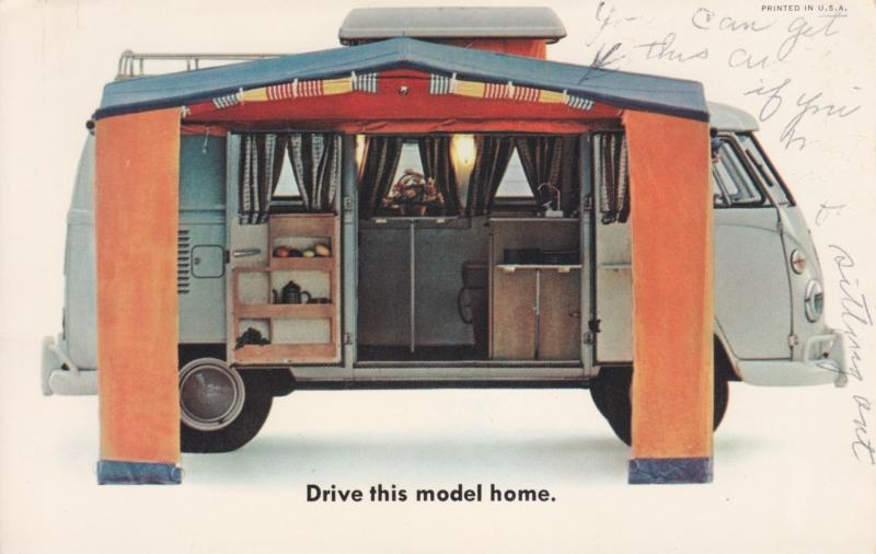Campmobile (Bus), USA postcard, standard size, 1966, #33-2352030