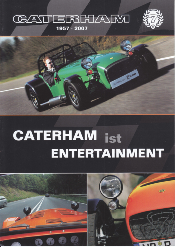 Caterham sportscar brochure,  4 pages, about 2008, German language