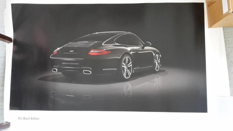 911 Black Edition large original factory poster, published 01/2011
