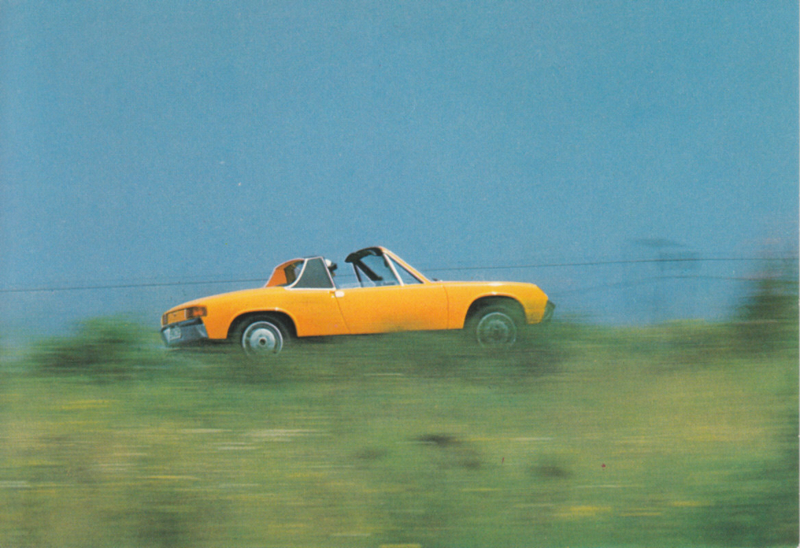VW-Porsche 914, factory-issued postcard, 1970, # W22-025-0370-0404