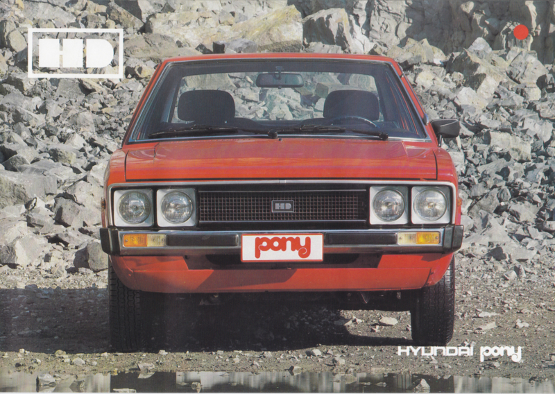 Pony 5-Door Hatchback brochure, 12 pages, about 1979, Dutch language