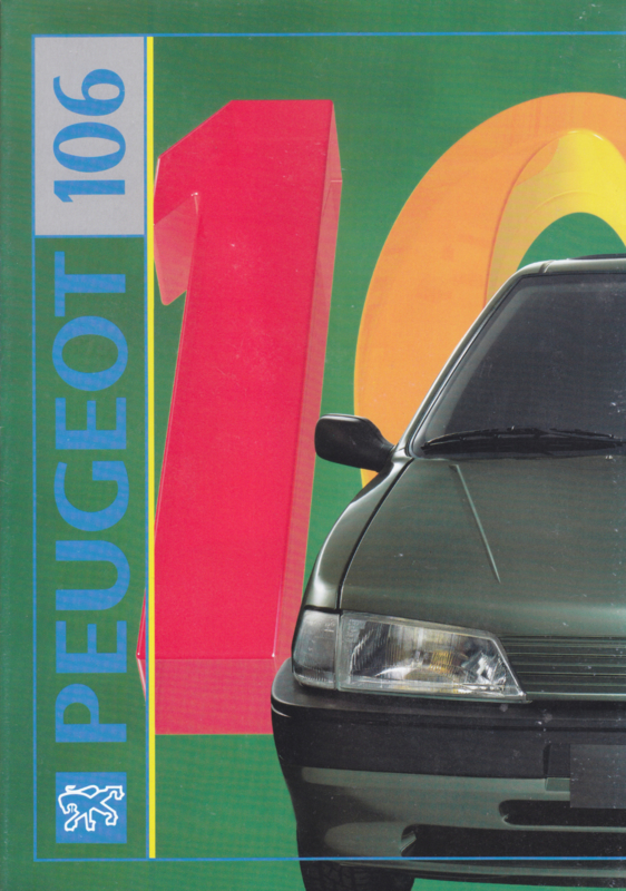 106 brochure, 16 pages, A4-size, 1992, German language