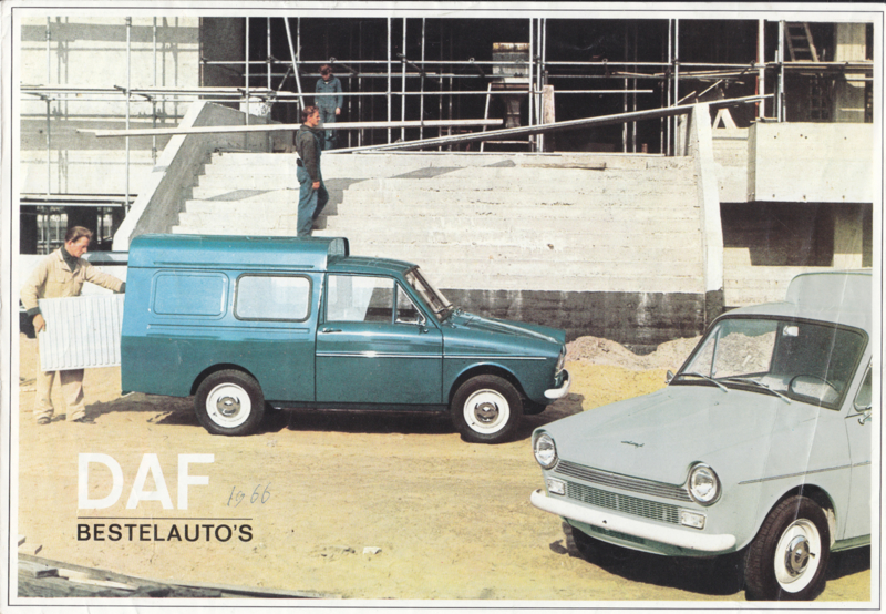 Bestelauto's (Vans & Pick-Up) brochure, 6 pages, 01/66, Dutch language
