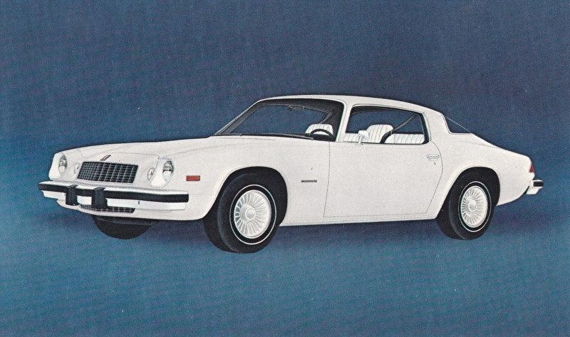 Camaro,  US postcard, standard size, 1975